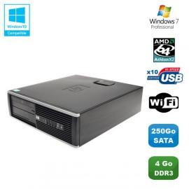 PC HP Compaq 6005 Pro SFF AMD Athlon X2 B28 3.4GHz 4Go 250Go WIFI Graveur W7 Pro