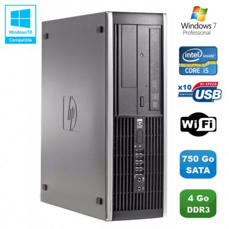 PC HP Compaq Elite 8100 SFF Intel Core i5 650 3.2GHz 4Go 750Go Graveur WIFI W7