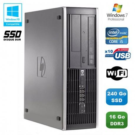 PC HP Compaq Elite 8100 SFF Intel Core i5 3.2GHz 16Go 240Go SSD Graveur WIFI W7