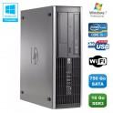 PC HP Compaq Elite 8100 SFF Intel Core i5 650 3.2GHz 16Go 750Go Graveur WIFI W7