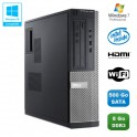 PC DELL Optiplex 3010 DT Intel G640 2.8Ghz 8Go 500Go Graveur WIFI HDMI Win 7 Pro