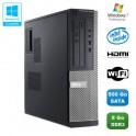 PC DELL Optiplex 3010 DT Intel G640 2.8Ghz 8Go 500Go Graveur WIFI HDMI Win 7 Pro