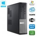 PC DELL Optiplex 3010 DT Intel G640 2.8Ghz 8Go 750Go Graveur WIFI HDMI Win 7 Pro