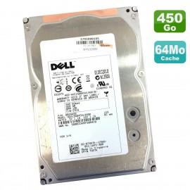 "Disque Dur 450Go SAS 3.5"" Dell HUS156045VLS600 T857K 0T857K 0B24495 15K 64Mo"