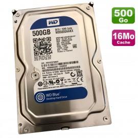 """Disque Dur 500Go SATA 3.5"""" Western Digital Blue WD5000AAKX-22ERMA0 7200RPM 16Mo"""