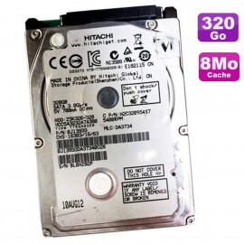 """Disque Dur 320Go SATA 2.5"""" HITACHI HCC543232A7A380 Z5K320-320 0J13933 8Mo"""
