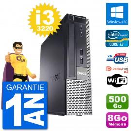 Ultra Mini PC Dell 7010 USFF i3-3220 RAM 8Go Disque Dur 500Go Windows 10 Wifi