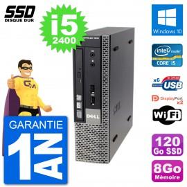 Ultra Mini PC Dell Optiplex 7010 USFF i5-2400 RAM 8Go SSD 120Go Windows 10 Wifi