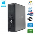 PC DELL Optiplex 780 Sff Core 2 Duo E7500 2,93Ghz 8Go DDR3 2To WIFI Win 7 Pro