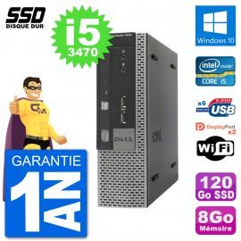 Ultra Mini PC Dell Optiplex 7010 USFF i5-3470 RAM 8Go SSD 120Go Windows 10 Wifi