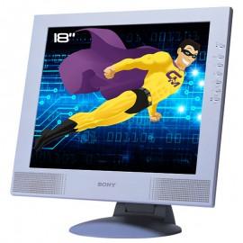 "Ecran PC Pro 18"" SONY SDM-M81 LCD TFT VGA DVI-I Audio 1280x1024"