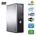 PC DELL Optiplex 760 DT Intel E5200 2,5Ghz 8Go DDR2 240Go SSD WIFI XP Pro