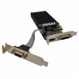 Carte Graphique MSI GeForce GT 710 1GD3H LP 1Go PCI-e HDMI VGA DVI-D Low Profile