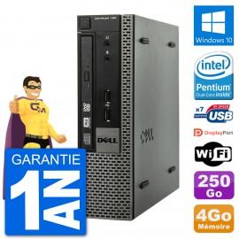 Ultra Mini PC Dell Optiplex 790 USFF G640 RAM 4Go Disque 250Go Windows 10 Wifi