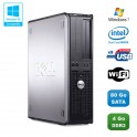 PC DELL Optiplex 760 DT Intel Dual Core E5200 2,5Ghz 4Go DDR2 80 Go WIFI Win 7
