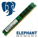 Barrette Mémoire RAM Elephant Memory 4Go DDR3 PC3-8500 1066 Lo-Dimm Low Profile