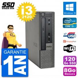Ultra Mini PC Dell Optiplex 790 USFF i3-2120 RAM 8Go SSD 120Go Windows 10 Wifi