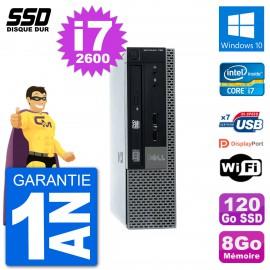 Ultra Mini PC Dell Optiplex 790 USFF i7-2600 RAM 8Go SSD 120Go Windows 10 Wifi