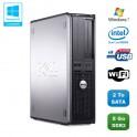 PC DELL Optiplex 760 DT Intel Dual Core E5200 2,5Ghz 8Go DDR2 2 To WIFI Win 7