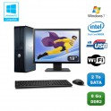 """Lot PC DELL Optiplex 760 DT Intel E5200 2,5Ghz 8Go DDR2 2 To WIFI Win 7 + 19"""""""