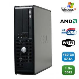 PC DELL Optiplex 740 SFF AMD Athlon 64 2.7GHz 1Go DDR2 160Go WIFI DVD Win XP Pro