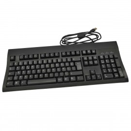 Clavier PC AZERTY USB WYSE KU-8933 901715-20L 105 Touches Noir