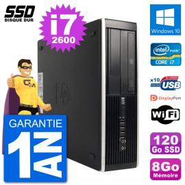 PC HP 8200 Elite SFF Intel i7-2600 RAM 8Go SSD 120Go Windows 10 Wifi