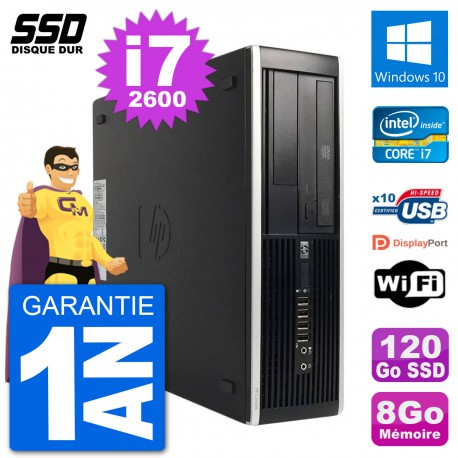 PC HP 8200 Elite SFF Intel i7-2600 RAM 8Go SSD 120Go Windows 10 Wifi
