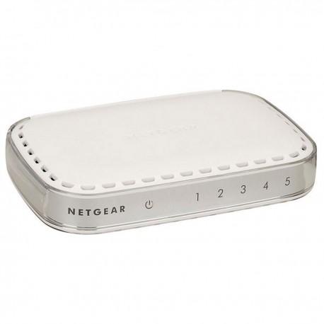 Switch NETGEAR GS605 272-11227-01 5x RJ-45 10/100/1000Mbps Gigabit WAN LAN