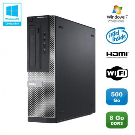 PC DELL Optiplex 390 DT G630 2.7Ghz 8Go 500Go Graveur DVD WIFI HDMI Win 7 Pro