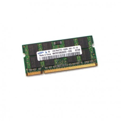 RAM PC Portable SODIMM Samsung M470T2953EZ3-CE6 DDR2 667Mhz 1Go PC2-5300S CL5