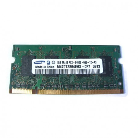 RAM PC Portable SODIMM Samsung M470T2864EH3-CF7 DDR2 800Mhz 1Go PC2-6400S CL6