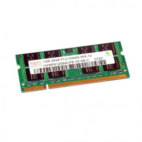1Go RAM PC Portable SODIMM Hynix HYMP512S64CP8-Y5 AB-C DDR2 667Mhz PC2-5300S CL5