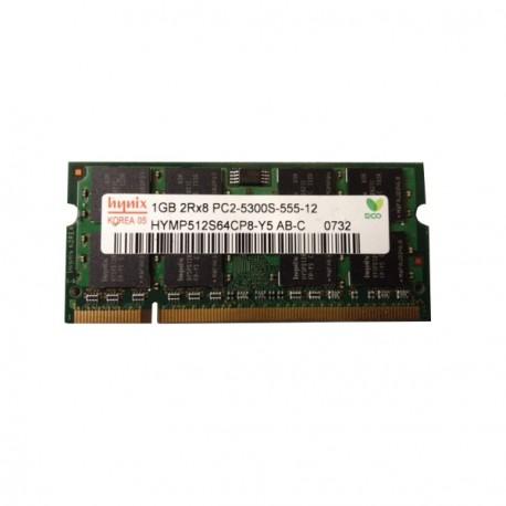 1Go RAM PC Portable SODIMM Hynix HYMP512S64CP8-Y5 AB DDR2 667Mhz PC2-5300S CL5