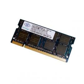 1Go RAM PC Portable NANYA NT1GT64U8HB0BN-3C SODIMM DDR2 667Mhz PC2-5300S CL5