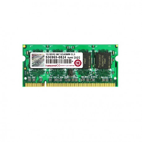1Go RAM PC Portable SODIMM Transcend JM667QSU-1G DDR2 667Mhz PC2-5300S CL5
