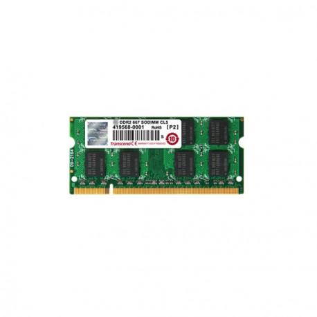 RAM PC Portable SODIMM Transcend JM488Q643A-6 DDR2 667Mhz 1Go PC2-5300S CL5