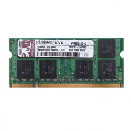 RAM PC Portable SODIMM Kingston KVR667D2S5/1G DDR2 667Mhz 1Go PC2-5300S CL5