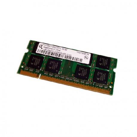 RAM PC Portable SODIMM Qimonda HYS64T128021EDL-3S-B2 DDR2 667Mhz 1Go PC2-5300S