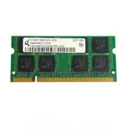 RAM PC Portable SODIMM Qimonda HYS64T128021HDL-3S-B DDR2 667Mhz 1Go PC2-5300S
