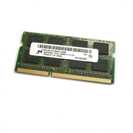 Barrette Mémoire RAM Sodimm 4Go DDR3 PC3-12800S Micron MT16KTF51264HZ-1G6M1 CL11