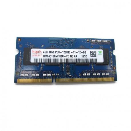 Barrette Mémoire RAM Sodimm 4Go DDR3 PC3-12800S Hynix HMT451S6MFR8C-PB N0 CL11
