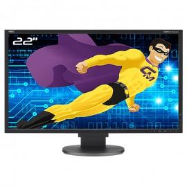 """Ecran PC 22"""" NEC MultiSync EA223WM L221V3 LED TFT TN VGA DVI-D Display USB 16:10"""