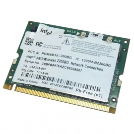 Mini-Carte Wifi Intel PRO 2200BG WM3B2200BG 0677-04-2327 PCI-e 802.11b/g WLAN