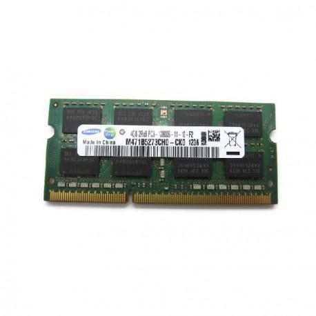 Barrette Mémoire RAM Sodimm 4Go DDR3 PC3-12800S Samsung M471B5273CH0-CK0 CL11