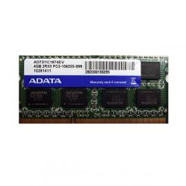 Barrette Mémoire RAM Sodimm 4Go DDR3 PC3-10600S Adata AD73I1C1674EV CL9