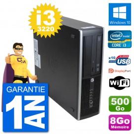 PC HP 8300 Elite SFF Intel i3-3220 RAM 8Go Disque Dur 500Go Windows 10 Wifi