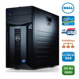 Serveur DELL PowerEdge T310 X3460 2.8Ghz 32Go 4x300Go Alimentation Redondante