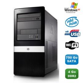 PC HP COMPAQ DX2400 Core 2 Duo E7200 2.53Ghz 4Go DDR2 750Go WIFI Win XP PRO