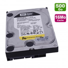 "Disque Dur 500Go SATA 3.5"" WD WD5002ABYS-70B1B0 397377-022 484429-002 7.2K 16Mo"